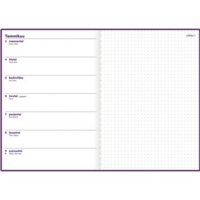 Ajasto Note pöytäkalenteri 2022 A5 luumu