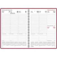Wega pöytäkalenteri 2022 A5 vadelma