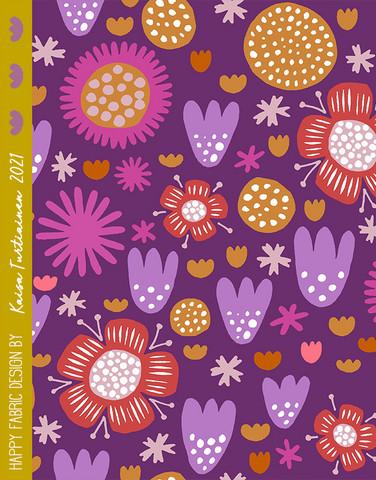Ilo-puuvillatrikoo violetti