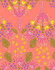 Humppa-cotton fabric coral