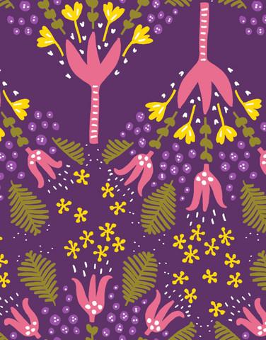 Humppa-puuvillakangas violetti