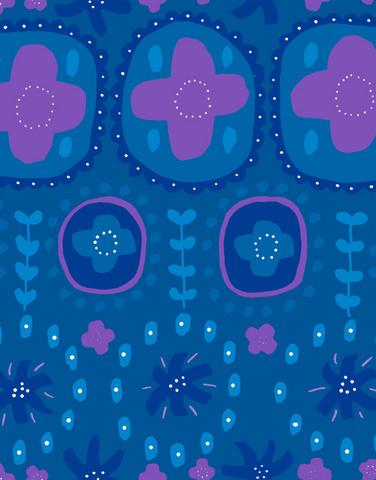 Auroora-puuvillasatiini sininen