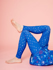 Aamu-leggings dotted blue