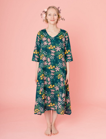 Kreeta-dress dark green