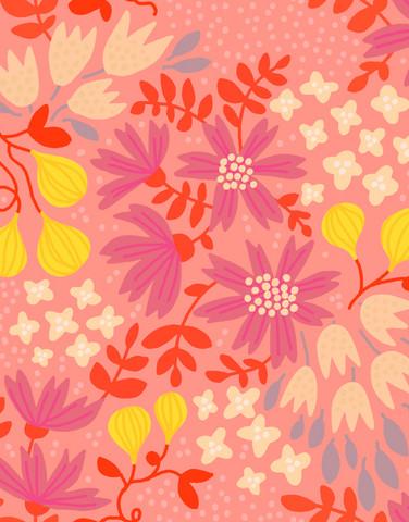 Kreeta-puuvillakangas vaaleanpunainen