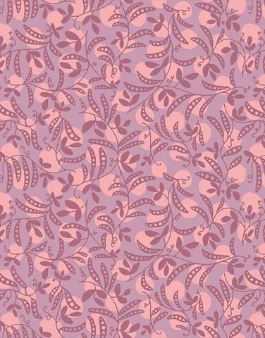 1,1 m piece Virna-cotton fabric lilac