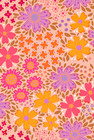 Floora-postikortti vaaleanpunainen