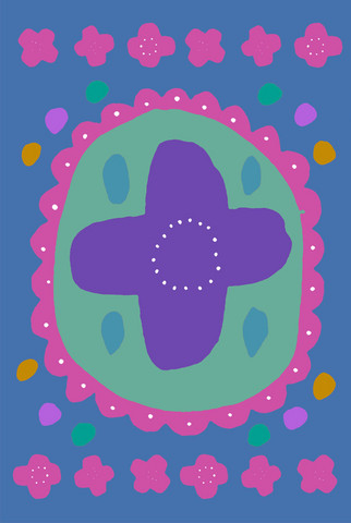Auroora-postcard blue