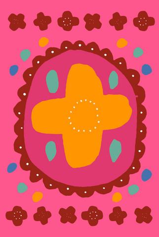 Auroora-postikortti pinkki