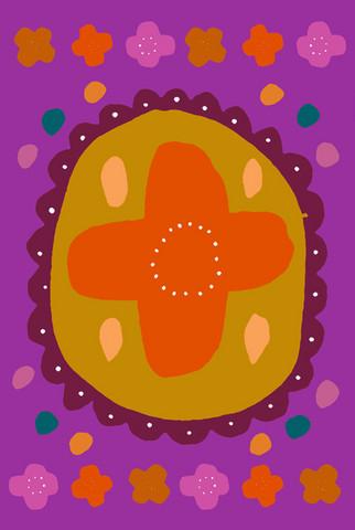 Auroora-postcard purple