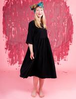 Liisi-Dress embroidered black