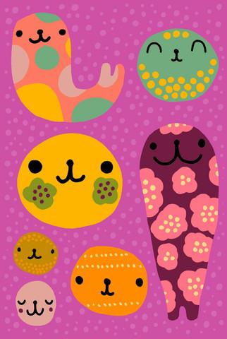 Ystävät-postikortti värikäs