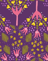 Humppa-cotton fabric purple
