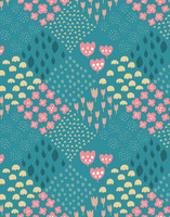 Palsta-viscose fabric ocean