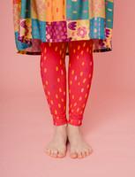 Aamu-leggings dotted raspberry