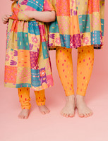 Aamu-leggings dotted sunshine yellow