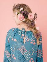 Illusia-mekko merensininen
