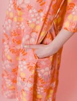 Kreeta-mekko vaaleanpunainen
