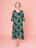 Kreeta-mekko tummanvihreä