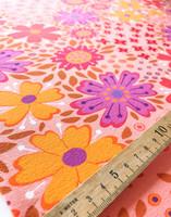 Floora-puuvillatrikoo vaaleanpunainen
