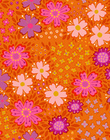 Floora-cotton fabric orange