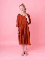 Liisi-mekko tumma oranssi