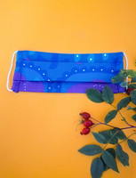 Fabric mask - blue
