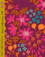Kreeta-puuvillakangas violetti
