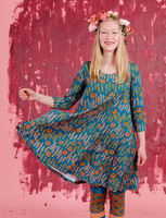 Amalia-dress petrol