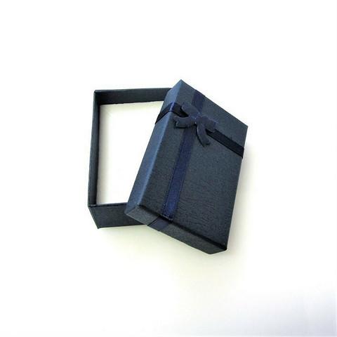 Tummansininen lahjarasia koruille 5 x 8 x 2,5cm