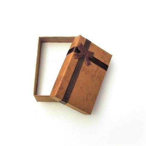 Ruskea lahjarasia koruille 5 x 8 x 2,5cm