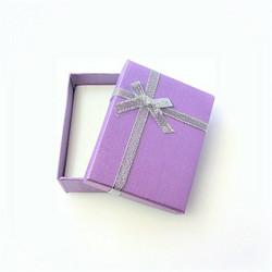 Violetti lahjarasia koruille 7 x 9 x 2,6cm