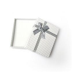 Polka dot lahjarasia koruille Valkoinen/Harmaa 7 x 9 x 2,6cm