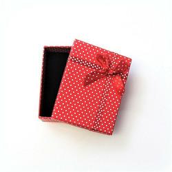 Polka dot lahjarasia koruille Punainen 7 x 9 x 2,6cm