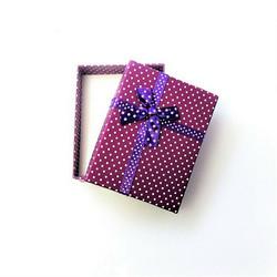 Polka dot lahjarasia koruille Fuksia/Violetti 7 x 9 x 2,6cm