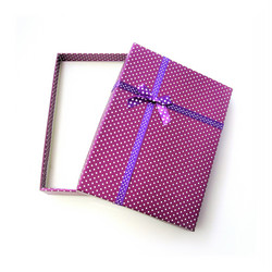 Polka dot lahjarasia koruille Fuksia/Violetti 12 x 16 x 3cm