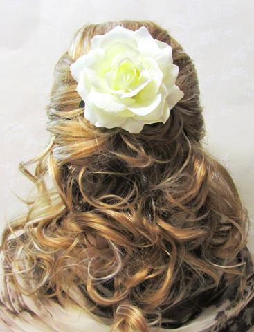 Pukukukka/Hiuskukka Valkoinen Ruusu