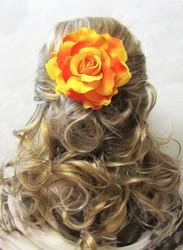 Pukukukka/Hiuskukka Oranssikeltainen Ruusu