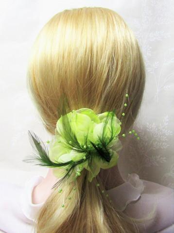 Näyttävä Pukukukka / Hiuskukka Vaaleanvihreä