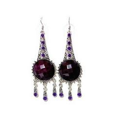 Isot Violetit antiikkihopean väriset korvakorut
