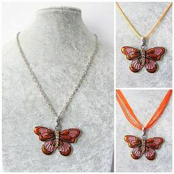 Kaunis oranssi perhoskaulakoru