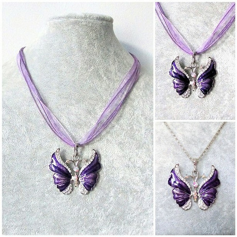 Kaunis violetti perhoskaulakoru