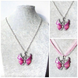 Kaunis pinkki perhoskaulakoru