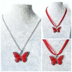 Upea ja laadukas punainen perhoskaulakoru