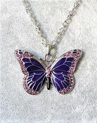 Upea ja laadukas violetti perhoskaulakoru