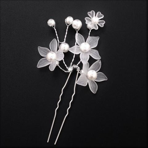 Muotoiltava valkoinen kukkapinni (hengetön) 1kpl