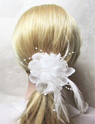 Näyttävä Pukukukka / Hiuskukka Valkoinen