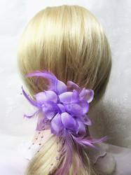 Näyttävä Pukukukka / Hiuskukka Vaalea Violetti