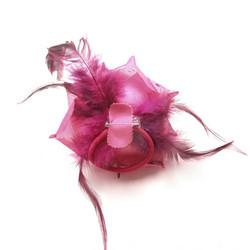 Pukukukka / Hiuskukka Pinkki Ruusu Glitterillä