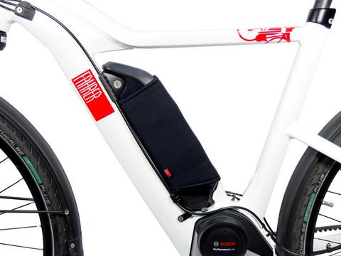Fahrer - sähköpyörän yleismallinen runkoakun suoja
